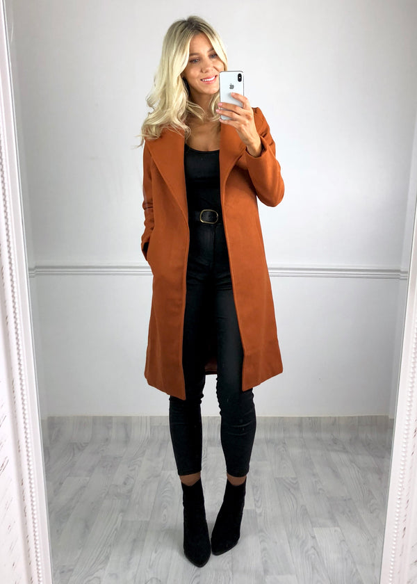 Victoria Duster Coat - Rust
