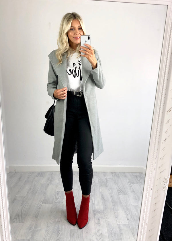 Victoria Duster Coat - Grey