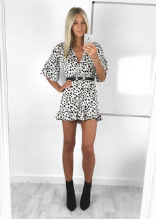 Darcy Spot Frill Playsuit