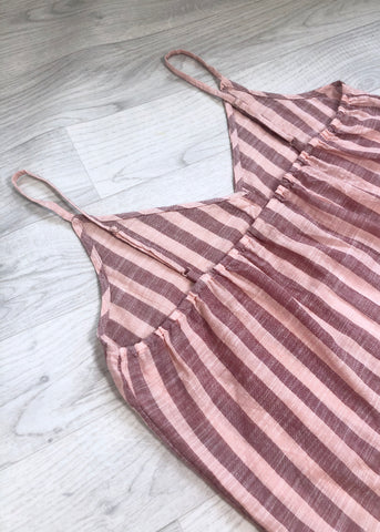Ichi Mirage Stripe Top - Pink