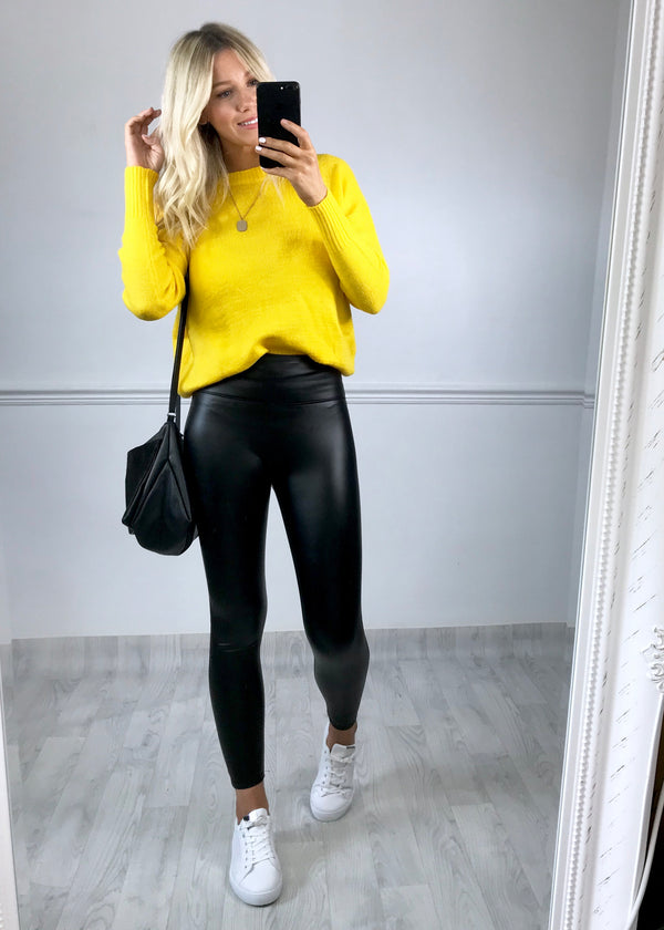 Kendra Knitted Jumper - Yellow