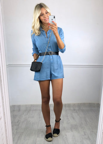Callie Denim Playsuit