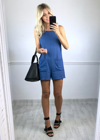 Christy Blue Playsuit