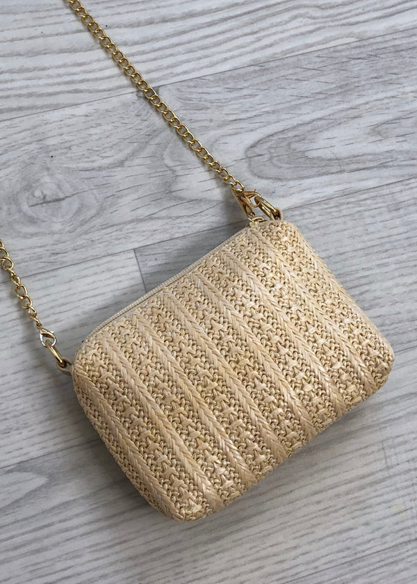 Mini Straw Bag - Cream