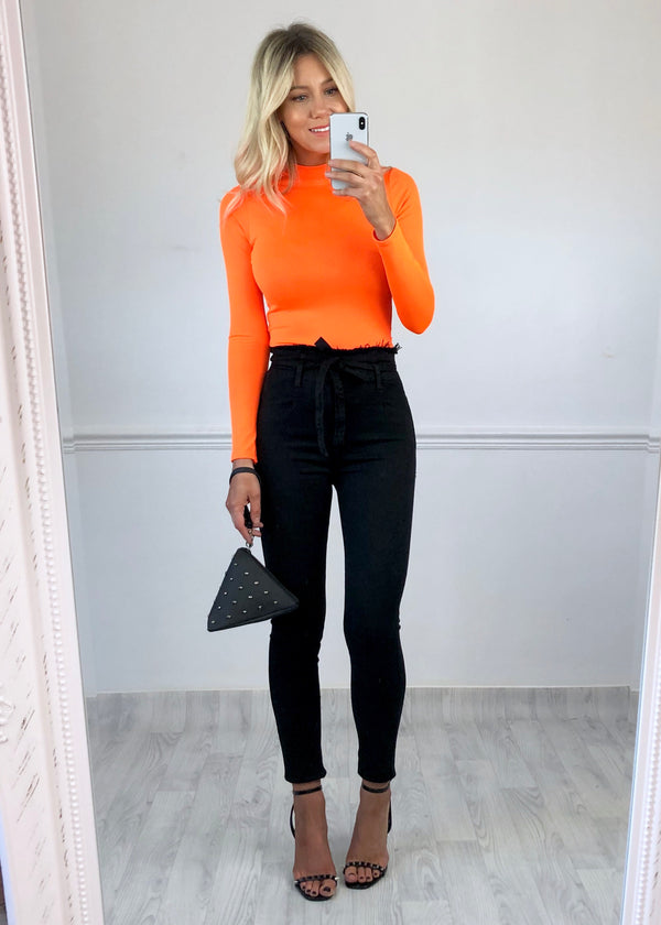 Lena Bodysuit - Neon Orange
