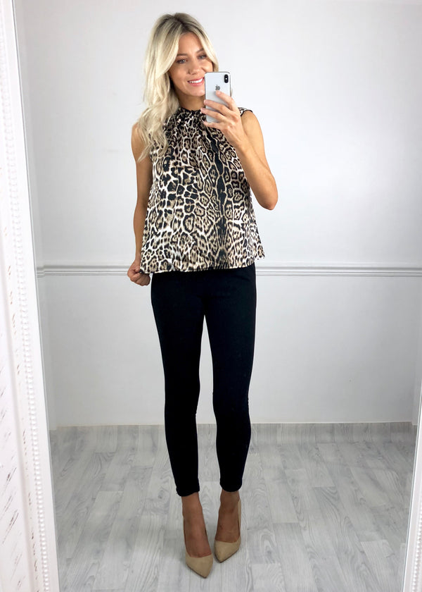 Rayna Leopard Print Swing Blouse