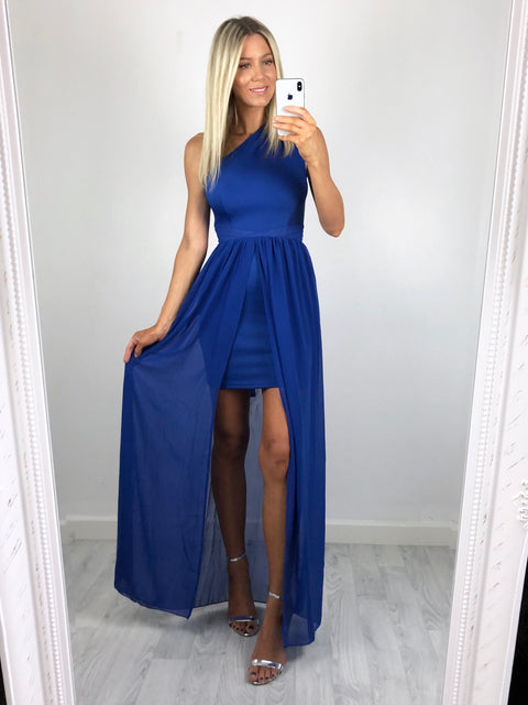 Lucia Overlay Maxi Dress - Cobalt Blue