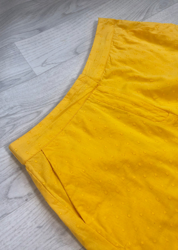 Ichi Summer Yellow Shorts