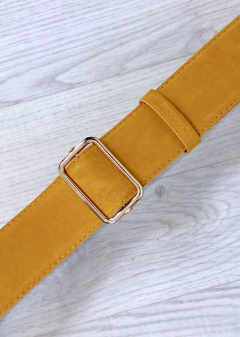 Velvet Belt - Yellow