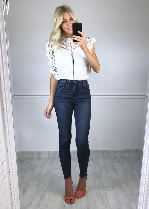 Tabatha Lace Top - White