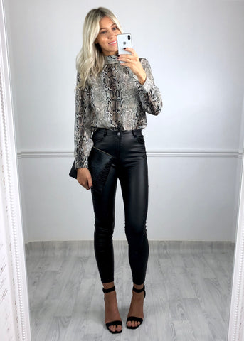 Lucy Snake Print Blouse