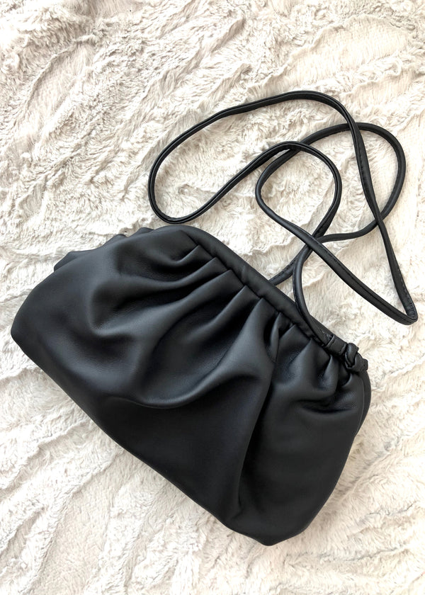 Trixie Large Soft Gathered Shoulder Bag - Black