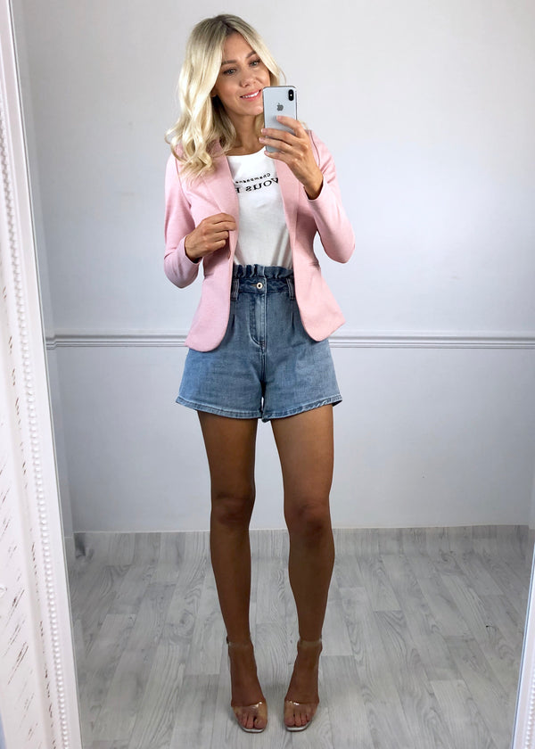 Georgia Paperbag Denim Shorts