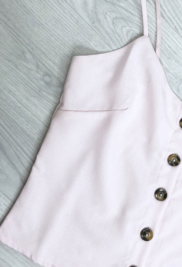 Sandy Button Down Cami - Pink