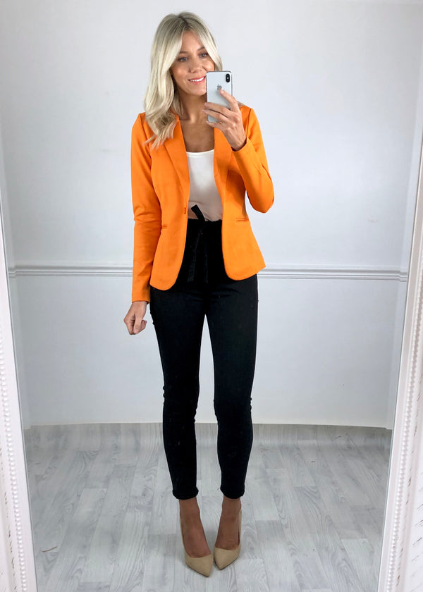 Jennifer Russet Orange blazer