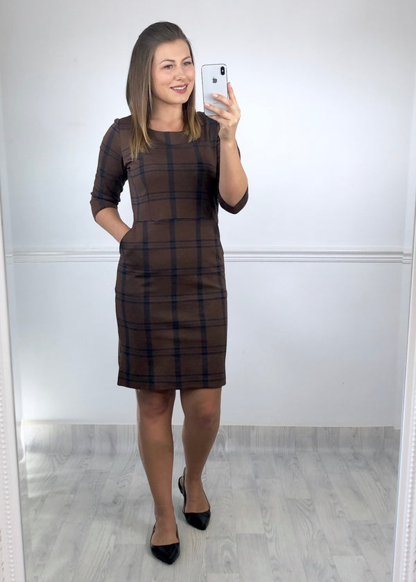 Janice Check Shift Dress