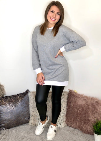 Ellie Contrast Mini Sweater Dress