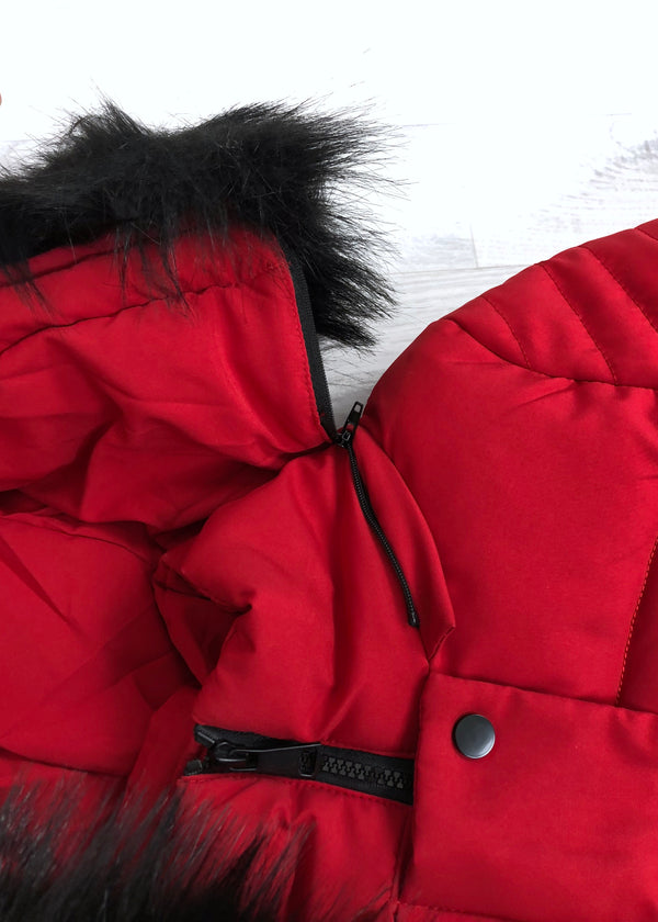 Jilly Padded Coat - Red