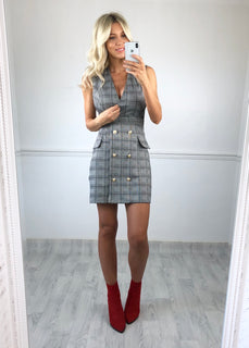 Rosie Grey Check Dress