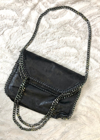 Milan Black Chain Bag - Large