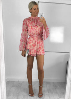 Lottie Flared Sleeve Floral Playsuit