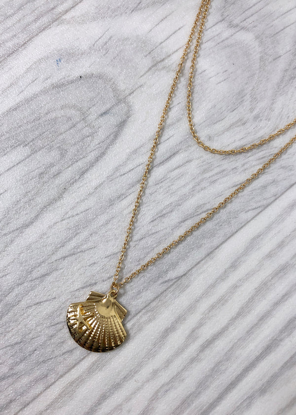 Shell double Necklace