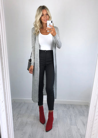 Urban Bliss - Tara Grey Longline Cardigan