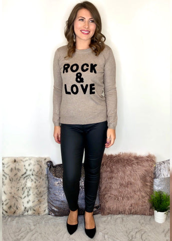 Rock and Love Jumper - Beige