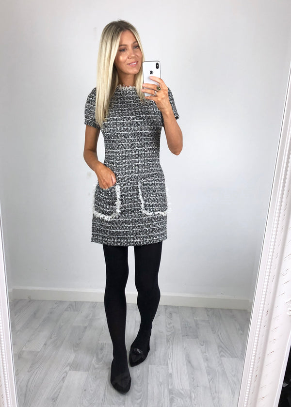 Daria Tweed Shift Dress