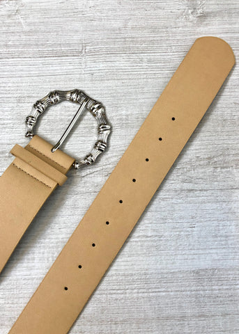 Sirius Buckle Belt - Nude