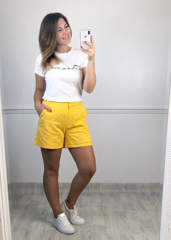 Summer Yellow Shorts