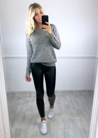 Alena Knitted Jumper - Grey