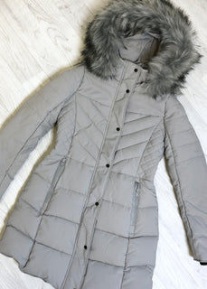 Jody Longline Padded Coat - Grey