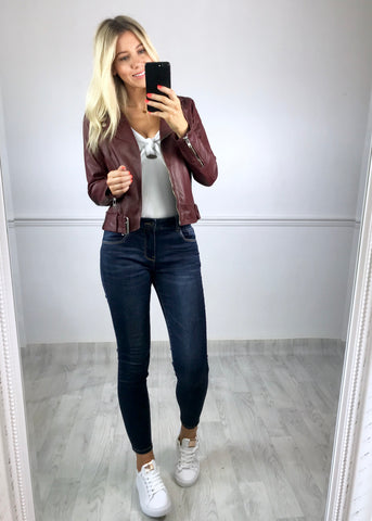 Tempest Leather Jacket - Wine