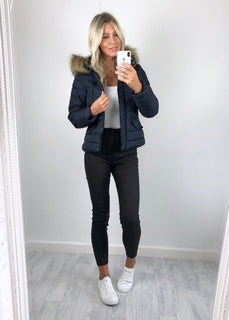 Urban Bliss - Pixie Padded Coat - Navy