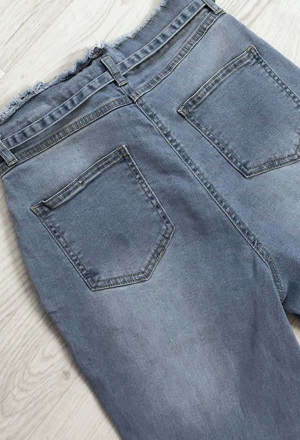 Harley Paper-Bag Jeans - Light Blue