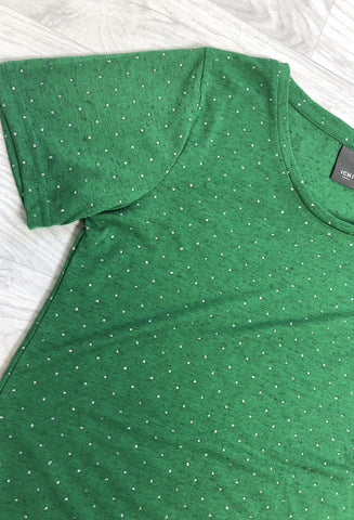 ICHI Sparkle Spot T-Shirt - Green