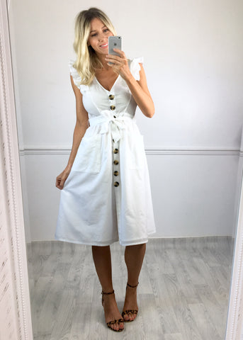 Faith Cotton Button Down Dress