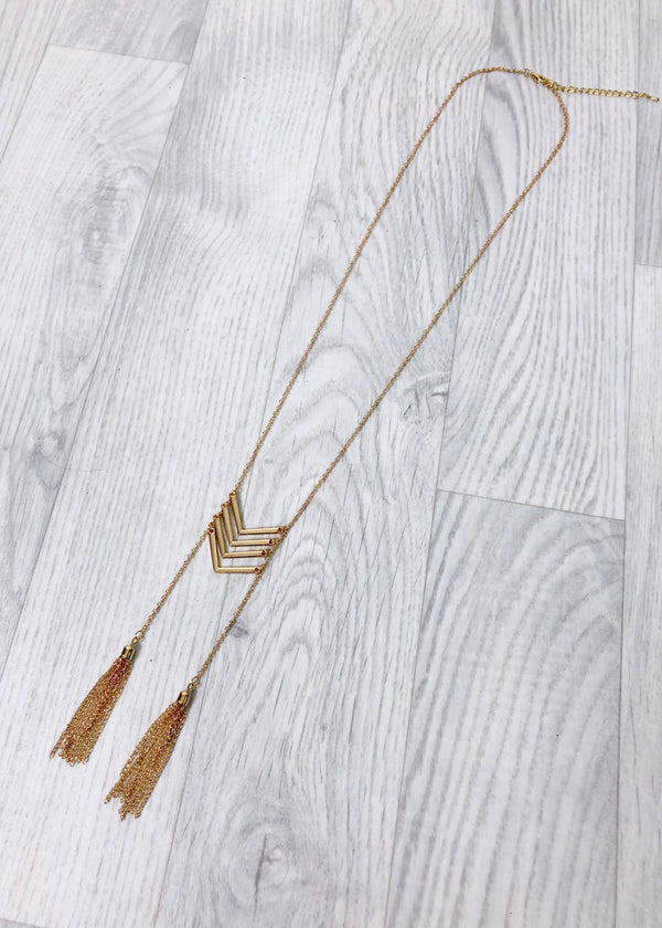 Long Necklace Arrows and Tassels