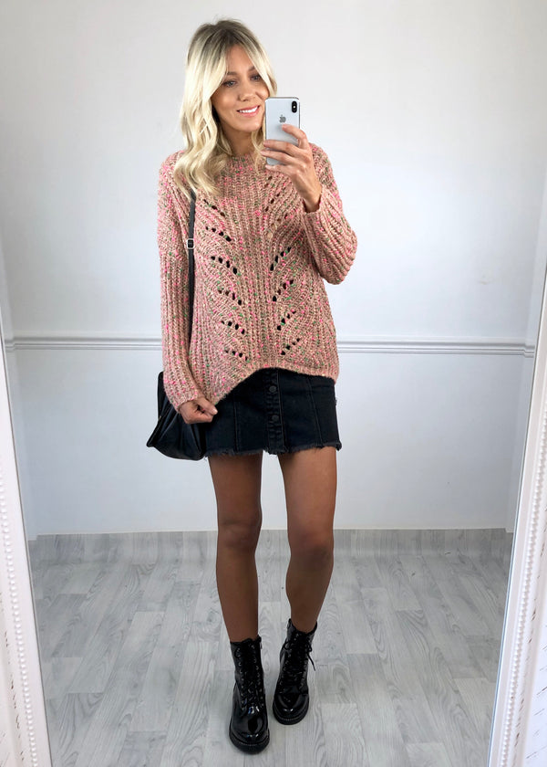 Abbie Knitted Jumper - Pink