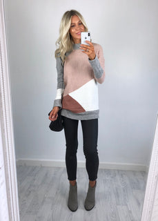 Urban Bliss - Gwen Longline Colour Block Jumper