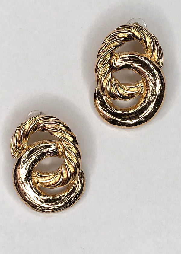 Double Circle Twisted Earrings