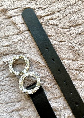 Diamante Double Circle Belt