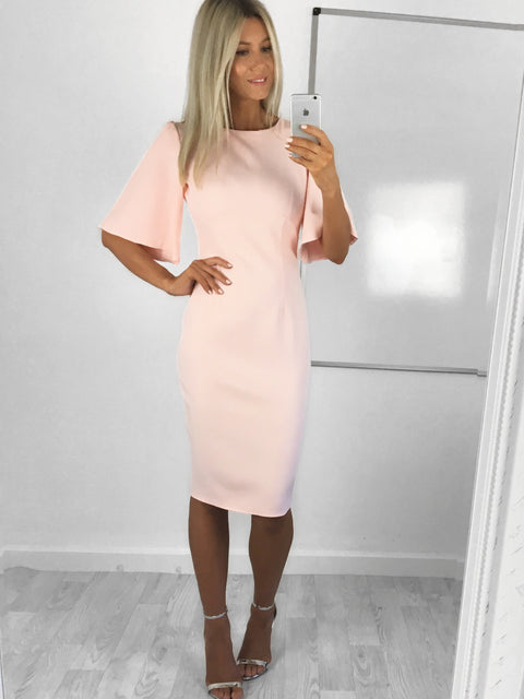 Allie Flared Short Sleeve Midi Dress