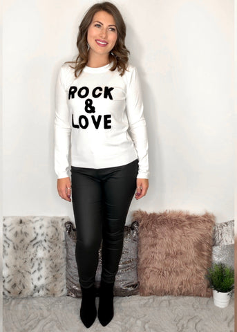 Rock and Love Jumper - White
