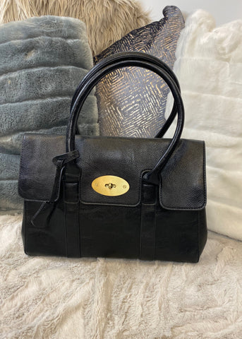 Portia Large Black Handbag