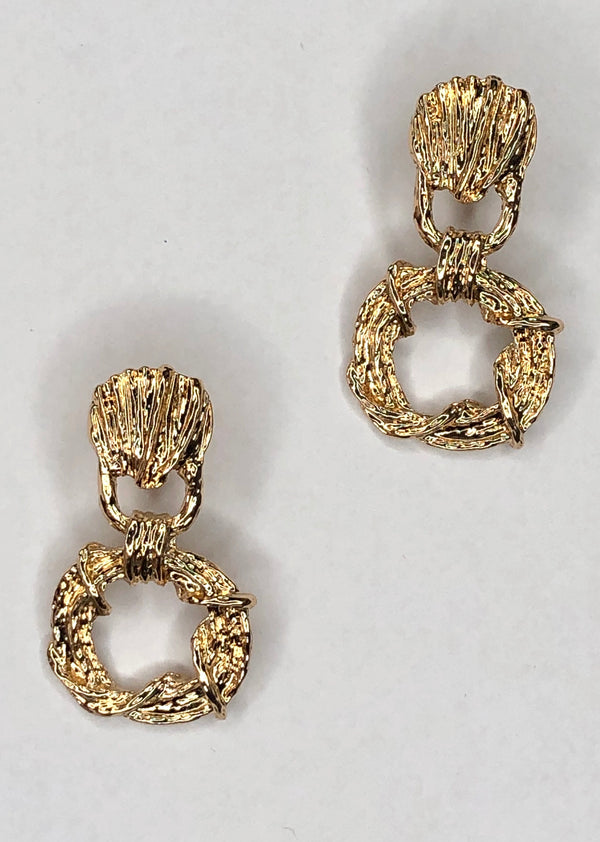 Twisted Gold Earrings