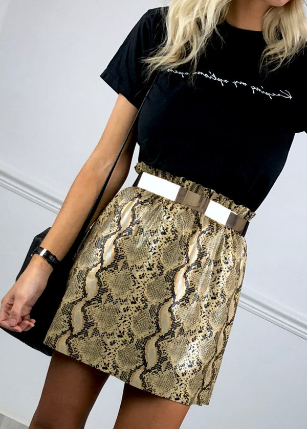 Luna Metal Band Belt - Gold