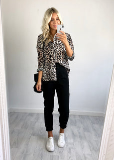 Dakota Leopard Print Shirt