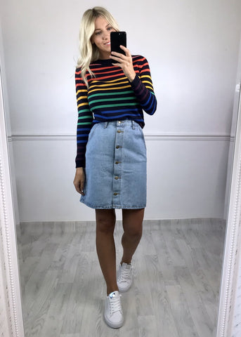 Chelle Stripey Jumper - Blue